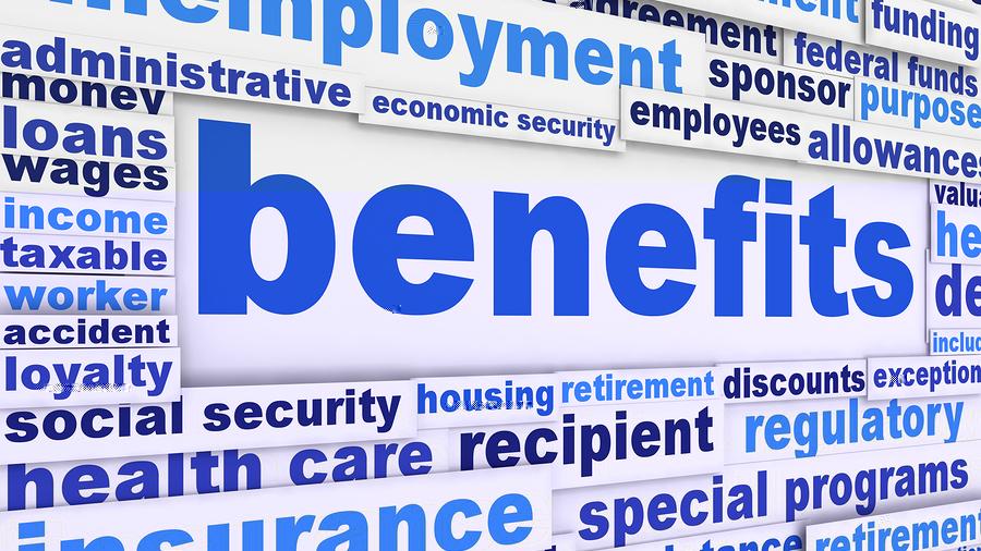 Benefits slogan poster concept